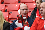 A Sunderland fan during the EFL Sky Bet League 1 match between Sunderland and Portsmouth at the Stadium Of Light, Sunderland, England on 27 April 2019.