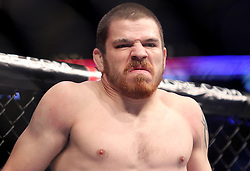East Rutherford, NJ - May 05, 2012: Jim Miller before his bout against Nate Diaz at UFC on FOX 3 at the Izod Center in East Rutherford, New Jersey.