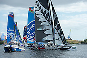 Emirates Team New Zealand, day one of the Cardiff Extreme Sailing Series Regatta. 22/8/2014