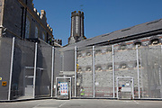 An exterior view of HMP Kingston. Portsmouth, United Kingdom. Kingston prison is a category C prison holding indeterminate sentenced prisoners.