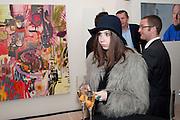 MIRIAM MIRO, Richard Wilson Vertu Global Art Commission. Saatchi Gallery. Duke of York's HQ. London. 13 April 2011. -DO NOT ARCHIVE-© Copyright Photograph by Dafydd Jones. 248 Clapham Rd. London SW9 0PZ. Tel 0207 820 0771. www.dafjones.com.