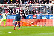Kevin Trapp (psg) during the French Championship Ligue 1 football match between Paris Saint-Germain and SCO Angers on march 14, 2018 at Parc des Princes stadium in Paris, France - Photo Pierre Charlier / ProSportsImages / DPPI