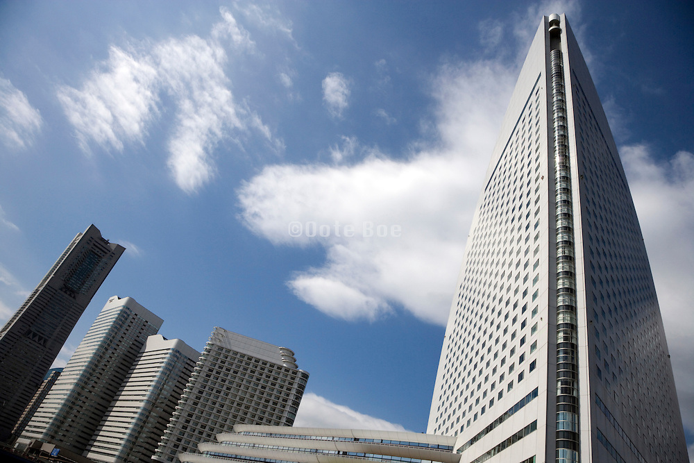 Intercontinental Hotel and Landmark Tower in Yokohama Japan