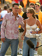 "ATLANTIC CITY, NJ - JUNE 27: From left, Rob Mariano, Amber Brkich enjoy a volleyball game during the Maxim Magazine Presents ""Fantasy Island"" at the Borgata Hotel Casino and Spa June 27, 2004 in Atlantic City, New Jersey. The event consisted of two music stages and four unique themed areas, providing a wide array of entertainment for guests; South Beach Venice Beach, Stuffland, and The Oasis. (Photo by William Thomas Cain/Getty Images)"