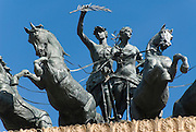 Quadriga on top of the Teatro Politeama Garibaldi, Palermo, Sicily, Italy