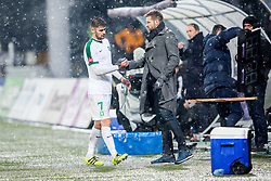 Igor Biscan, head coach of NK Olimpija Ljubljana and Rok Kronaveter of NK Olimpija Ljubljana during football match between NK Maribor and NK Olimpija Ljubljana in 2nd leg match in Quaterfinal of Slovenian cup 2017/2018, on November 29, 2017 in Ljudski vrt, Maribor, Slovenia. Photo by Ziga Zupan / Sportida