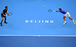 BEIJING,Oct. 6, 2018  Ivan Dodig (R) and Nikola Mektic of Croatia compete during the men's doubles semifinal against Oliver Marach of Austria and Mate Pavic of Croatia at the China Open tennis tournament in Beijing, capital of China, Oct. 6, 2018. Ivan Dodig and Nikola Mektic lost 0-2. (Credit Image: © Zhang Chenlin/Xinhua via ZUMA Wire)