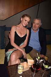 Lara Stone and Robert De Niro at the launch of Nobu Hotel London Shoreditch,10-50 Willow Street, London, England. 15 May 2018.
