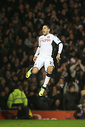 05.12.2011, Craven Cottage Stadion, London, ENG, PL, FC Fulham vs FC Liverpool, 14. Spieltag, im Bild Fulham's Clint Dempsey celebrates scoring the winning goal against Liverpool during the football match of English premier league, 14th round, between FC Fulham and FC Liverpool at Craven Cottage Stadium, London, United Kingdom on 05/12/2011. EXPA Pictures © 2011, PhotoCredit: EXPA/ Sportida/ David Rawcliff..***** ATTENTION - OUT OF ENG, GBR, UK *****