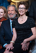 JEFF BRIDGES AND ANNETTE BENNING.at the Academy of Motion Picture Arts and Sciences' Oscar® Nominees Luncheon, Beverly Hilton_07/02/2011.Academy Awards for outstanding film achievements of 2010 will be presented on Sunday, February 27, 2011 at the Kodak Theatre, Hollywood..MANDATORY PHOTO CREDIT: ©Decker/NEWSPIX INTERNATIONAL . .(Failure to by-line the photograph will result in an additional 100% reproduction fee surcharge. You must agree not to alter the images or change their original content)..            *** ALL FEES PAYABLE TO: NEWSPIX INTERNATIONAL ***..IMMEDIATE CONFIRMATION OF USAGE REQUIRED:Tel:+441279 324672..Newspix International, 31 Chinnery Hill, Bishop's Stortford, ENGLAND CM23 3PS.Tel: +441279 324672.Fax: +441279 656877.Mobile: +447775681153.e-mail: info@newspixinternational.co.uk