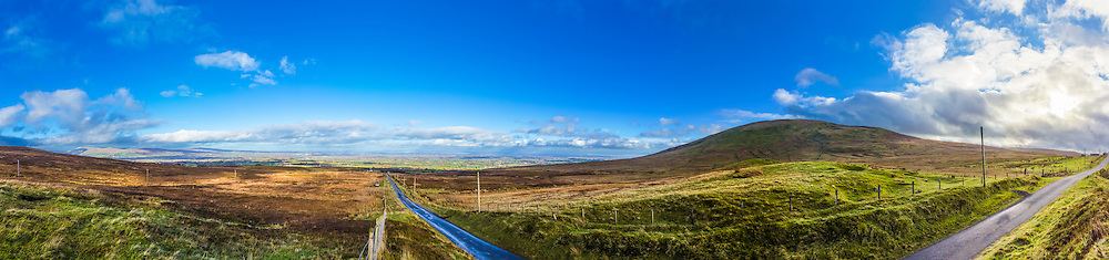 This is one of my first shots from my Sperrins trip in November 2014. I got this shot on my way passed Slieve Gallion looking back out on the lowlands from which I had come which offered a lovely view of the villages below and Lough Beg just off to the north of Lough Neagh, with Slieve Gallion on the right.<br />