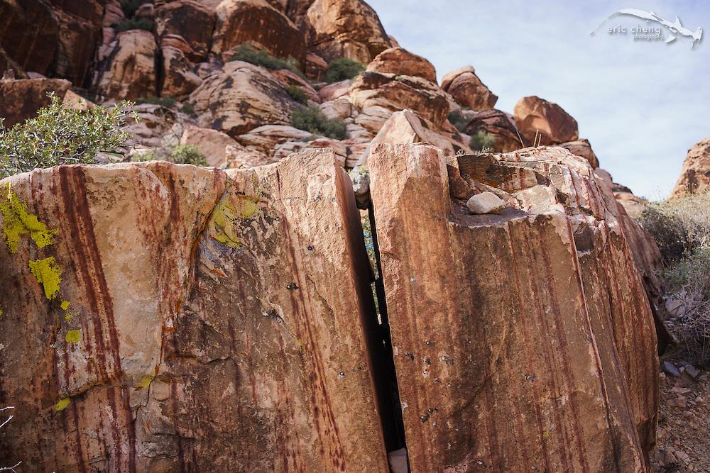HIking at Red Rock Canyon near Las Vegas, Nevada