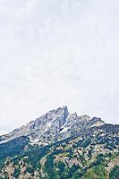 Teewinot Mountain in Grand Tetons National Park, Wyoming, USA.