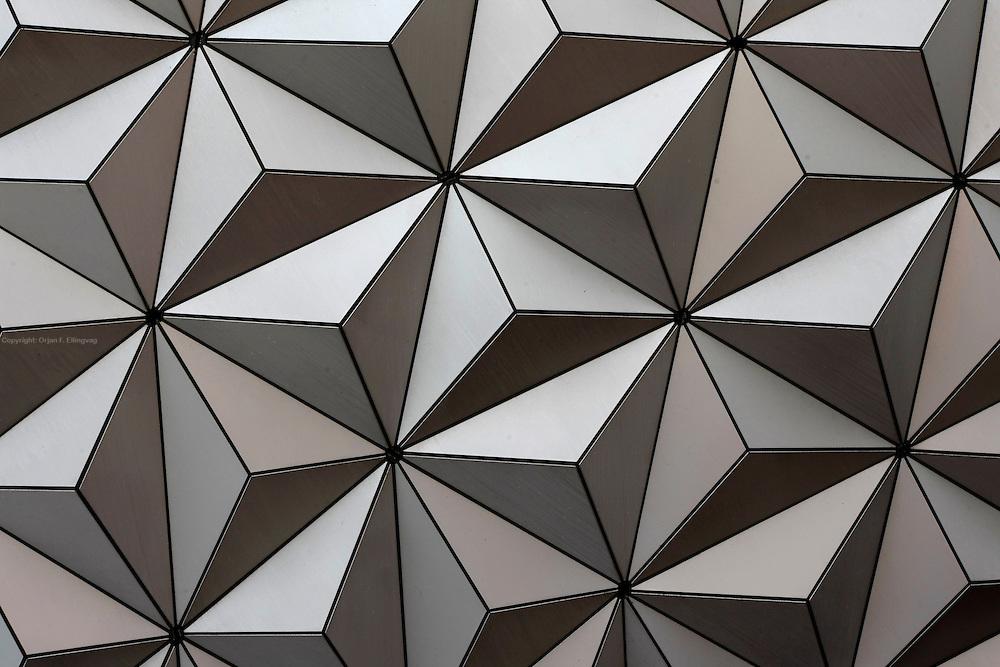 Orlando, Florida, USA, 20090325:   The Disney EPCOT Center in Orlando. The futuristic prism design of the globe at the center of the EPCOT Center. Photo: Orjan F. Ellingvag/ Dagbladet/ Corbis