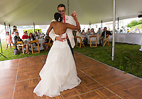 Jen and Tony's Wedding Day.  First Dance ~ Reception.  York, Maine.  ©2015 Karen Bobotas Photographer