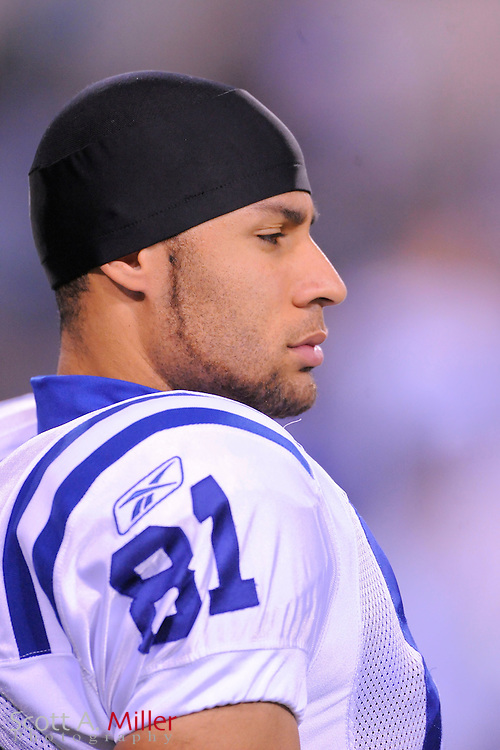 Dec. 17, 2009; Jacksonville, FL, USA;Indianapolis Colts wide receiver Hank Baskett (81) in action against the Jacksonville Jaguars at Jacksonville Municipal Stadium. The Colts won. 35-31. ©2009 Scott A. Miller.© 2009 Scott A. Miller