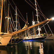 Pleased to announce that the 221ft three-masted schooner Adix is joining our racing fleet.<br /> Built by Astilleros de Palma de Mallorca in 1984, she first arrived in Antigua as 'Jessica' in the mid 'eighties under the flamboyant ownership of Carlos Perdomo. She had completed her first circumnavigation by the late 'eighties under Alan Bond, before returning to Europe to begin her new awakening as 'Adix'. After competing at La Nioularge in 1990, she competed in two trans-Atlantic races, the second effort delivering a long sought after goal, which was to better the famous three-masted schooner 'Atlantic's' passage time, which we eventually did comfortably at an average speed of 12.6 knots.<br /> However, during her current ownership, which now spans more than 27 years, she has essentially been a consummate cruising yacht, with two more circumnavigations under her keel, and several runs throughout the Pacific. She has ranged as far north as Alaska, and ventured south to the Antarctic Peninsula.<br /> In 2015 she went to refit in Falmouth England, where she completed her regular Lloyd's special survey, underwent modifications to her deck accommodation, and replaced her original ageing rig with a new carbon rig, reflecting the same style and look as the old; one notable exception being the introduction of 'deadeyes and lanyards' as a nod towards her traditional heritage. This coming summer will see her on the east coast of the United States and the Maine coast, before returning back through the Caribbean en-route once more to the Pacific, continuing her tradition as one of the great cruising yachts of her time.