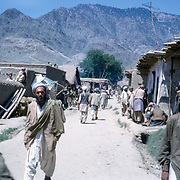 Late Summer? 1965<br /> Capital Kunar Province, now called Assadabad. Pedestrians.