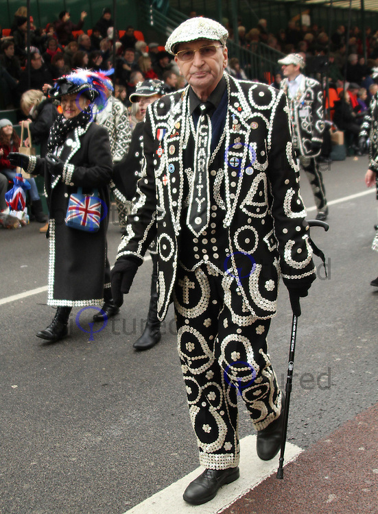 The London Pearly Kings & Queens Society London's New Year's Day Parade, City of Westminster, London, UK, 01 January 2011:  Contact: Ian@Piqtured.com +44(0)791 626 2580 (Picture by Richard Goldschmidt)