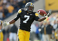 October 31, 2009: Iowa wide receiver Marvin McNutt (7) can't bring in a pass during the first half of the Iowa Hawkeyes' 42-24 win over the Indiana Hoosiers at Kinnick Stadium in Iowa City, Iowa on October 31, 2009.