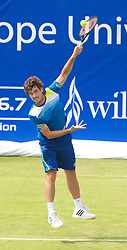 LIVERPOOL, ENGLAND - Thursday, June 20, 2013: Guido Pella during the Day One at the Liverpool Hope University International Tennis Tournament at Calderstones Park. (Pic by David Rawcliffe/Propaganda)