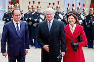 STATE VISIT DAY 1 TO FRANCE OF QUEEN SILVIA AND KING CARL GUSTAF