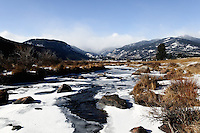 Big Thompson River, Moraine Park, Rocky Mountain National Park. Image taken with Nikon D300 an 17-35 mm f/2.8 lens (ISO 200, 20 mm, f/22, 1/40 sec).