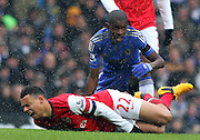 FRANCIS COQUELIN TACKLED BY RAMIRES LEADS TO JUAN MATA GOAL.CHELSEA V ARSENAL.CHELSEA V ARSENAL. BARCLAYS PREMIER LEAGUE.LONDON, ENGLAND, UK.20 January 2013.GAQ64589..  .WARNING! This Photograph May Only Be Used For Newspaper And/Or Magazine Editorial Purposes..May Not Be Used For Publications Involving 1 player, 1 Club Or 1 Competition .Without Written Authorisation From Football DataCo Ltd..For Any Queries, Please Contact Football DataCo Ltd on +44 (0) 207 864 9121