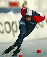 Skøyter, 22. desember 2002. NM enkeltdistanser. Petter Andersen vant 1500 meter.