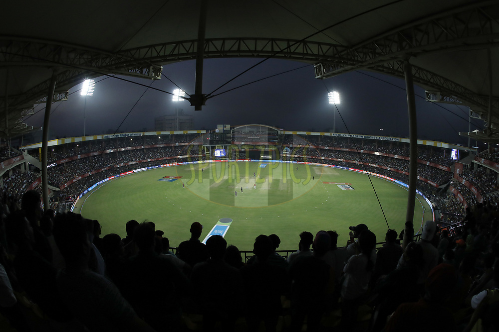 Gv during match 4 of the Vivo 2017 Indian Premier League between the Kings X1 Punjab and the rising Pune Supergiant held at the Holkar Cricket Stadium in Indore, India on the 8th April 2017<br /> <br /> Photo by Arjun Singh - IPL - Sportzpics