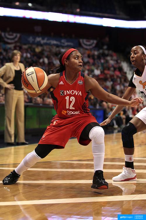 Ivory Latta, Washington Mystics, in action during the Connecticut Sun V Washington Mystics WNBA regular season game at Mohegan Sun Arena, Uncasville, Connecticut, USA. 7th June 2013. Photo Tim Clayton
