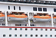 Totally enclosed lifeboats TELB on Cruise Ship