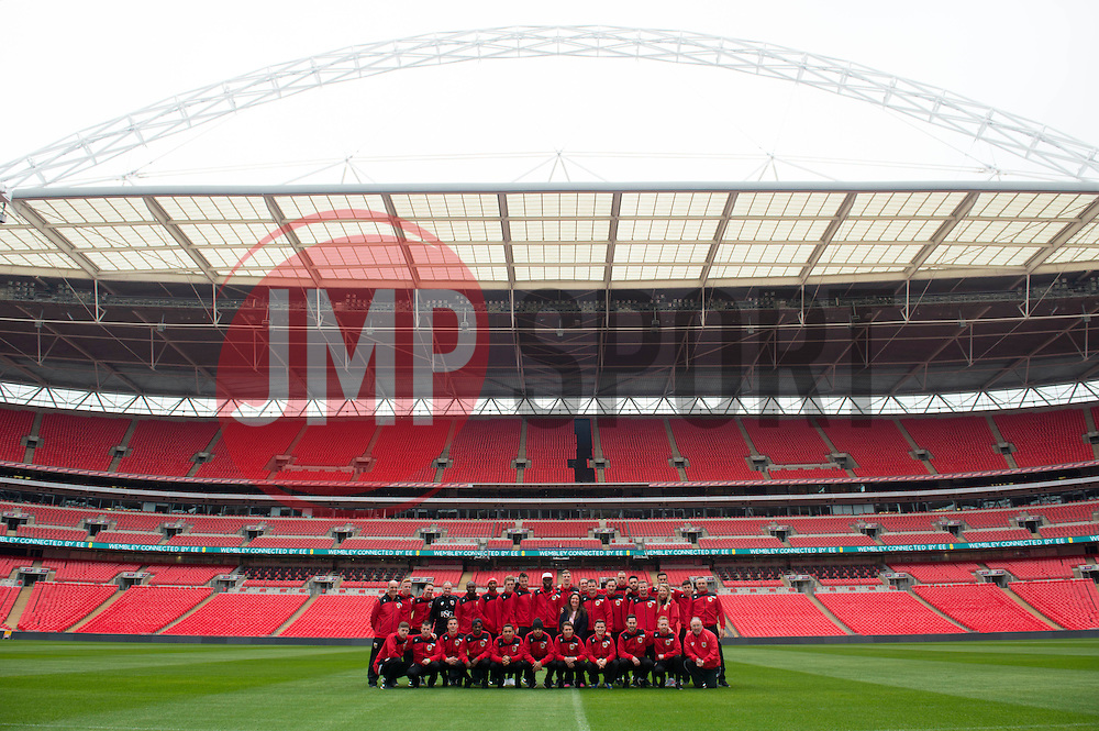 Bristol City first team players and back room staff visit Wembley Stadium - Photo mandatory by-line: Joe Meredith/JMP - Mobile: 07966 386802 - 19/03/2015 - SPORT - Football - London - Wembley - Johnstone Paint Trophy