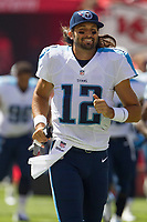 September 7, 2014: Tennessee Titans quarterback Charlie Whitehurst (12) during the NFL American Football Herren USA game between the Tennessee Titans and the Kansas City Chiefs at Arrowhead Stadium in Kansas City, Missouri. Tennessee defeated the Chiefs 26-10 NFL American Football Herren USA SEP 07 Titans at Chiefs PUBLICATIONxINxGERxSUIxAUTxHUNxRUSxSWExNORxONLY Icon140907246<br />