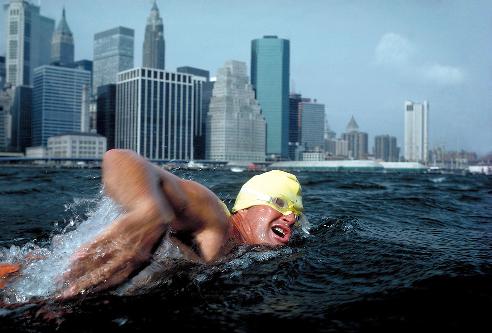 Marathon swimmer, Manhattan Island, NY