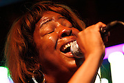 072410-Evergreen, COLORADO-jazzfest-Deejha Marie sings with the After Midnight Jazz Band during the 2010 Evergreen Jazz Fest Saturday, July 24, 2010 at the Little Bear..Photo By Matthew Jonas/Evergreen Newspapers/Photo Editor
