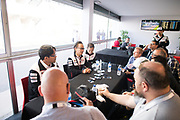 Shigeki Tomoyama, Toshio Sato, TMG President <br /> TOYOTA GAZOO  Racing. <br /> Le Mans 24 Hours Race, 11th to 17th June 2018<br /> Circuit de la Sarthe, Le Mans, France.