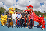 January 07, 2017: Members of the Chinese community conducted a Lion Dance to welcome China's top ranked player Zhang Shuai to the Apia International Sydney 2017 at Sydney Olympic Park Tennis Centre. (Photo by Hugh Peterswald/Icon Sportswire)