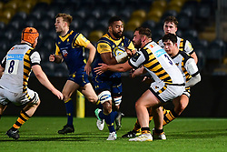 Andrew Durutalo of Worcester Cavaliers in action - Mandatory by-line: Craig Thomas/JMP - 23/10/2017 - RUGBY - Sixways Stadium - Worcester, England - Worcester Cavaliers v Wasps - Aviva A League