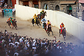 The Palio Horse Race in Siena, Italy