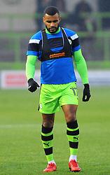 Daniel Wishart of Forest Green Rovers warms up-Mandatory by-line: Nizaam Jones/JMP - 18/11/2017 - FOOTBALL - New Lawn Stadium - Nailsworth, England - Forest Green Rovers v Crewe Alexandre-Sky Bet League Two