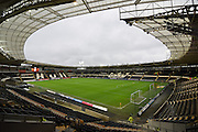 Hull City's KC Stadium before the Sky Bet Championship match between Hull City and Bolton Wanderers at the KC Stadium, Kingston upon Hull, England on 12 December 2015. Photo by Ian Lyall.