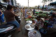 Rach Gia. Vinh Thanh Market along Cai Lon River.