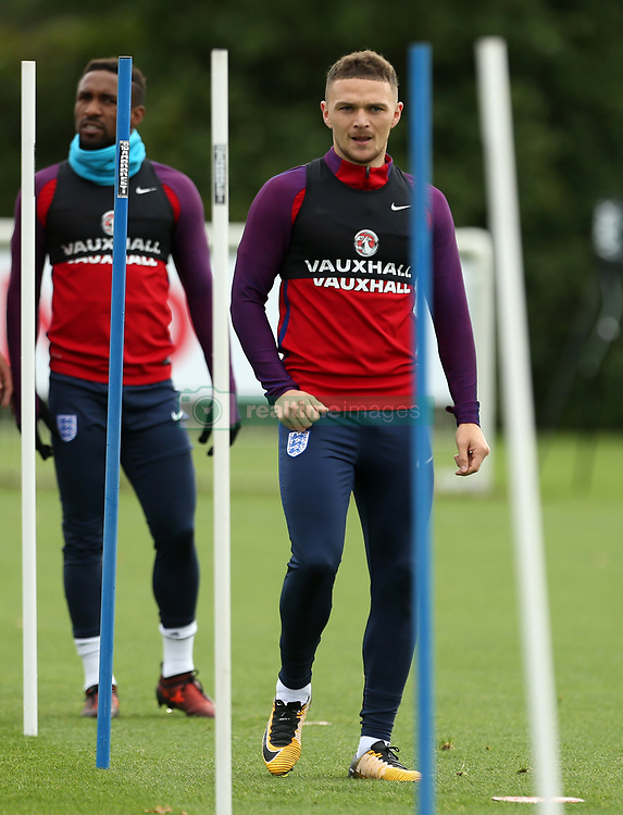 England's Kieran Trippier during the training session at Enfield Training Centre, London.