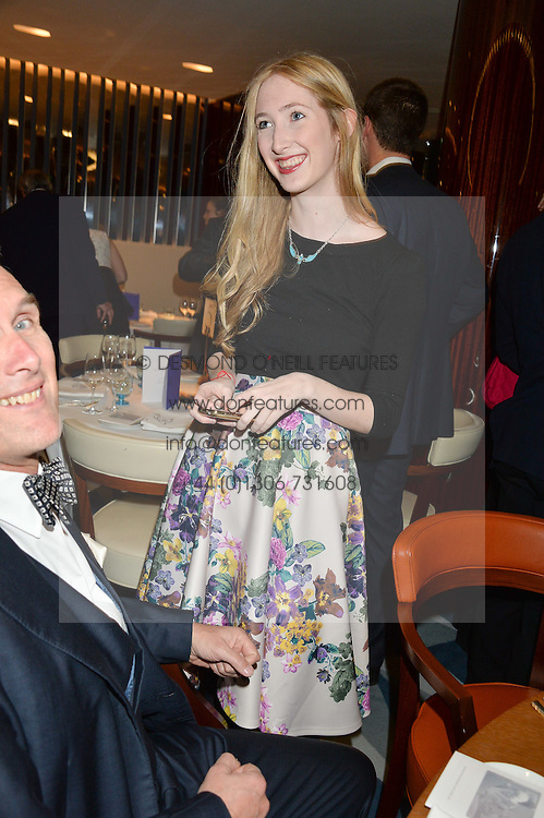 FLORA GILL at a dinner hosted by AA Gill & Nicola Formby in support of the Borne charity held at Rivea at the Bulgari Hotel, Knightsbridge, London on 3rd February 2015.