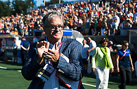 BREDA -  Nick Irvine, famous hockeycommentator, Australia-India (1-1), finale Rabobank Champions Trophy 2018. Australia wint shoot outs.  COPYRIGHT  KOEN SUYK