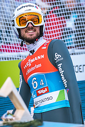 24.02.2019, Bergiselschanze, Innsbruck, AUT, FIS Weltmeisterschaften Ski Nordisch, Seefeld 2019, Skisprung, Herren, Teambewerb, Wertungssprung, im Bild Killian Peier (SUI) // Killian Peier of Switzerland during the competition jump for the men's skijumping Team competition of FIS Nordic Ski World Championships 2019 at the Bergiselschanze in Innsbruck, Austria on 2019/02/24. EXPA Pictures © 2019, PhotoCredit: EXPA/ Dominik Angerer
