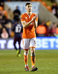 Blackpool's Paudie O'Connor applauds the fans at the end of the Emirates FA Cup, third round match at Bloomfield Road, Blackpool.