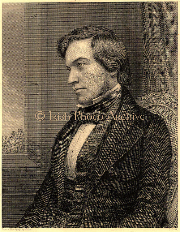 George Fownes (1815-1849). British chemist. First professor of chemistry at the Pharmaceutical Society of London's School of Pharmacy 1842-1846.  From James Sheridan Muspratt 'Chemistry' (London, c1860). Engraving.