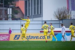 Players of Domzale celebrating during football match between NK Domzale and NK Triglav in Round #18 of Prva liga Telekom Slovenije 2019/20, on November 23, 2019 in Sports park Domzale, Slovenia. Photo by Sinisa Kanizaj / Sportida